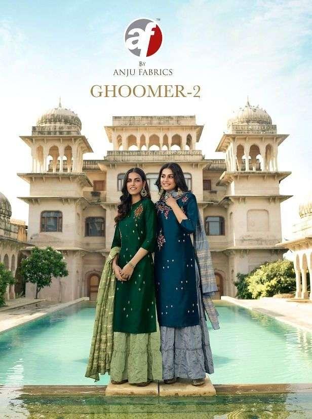 ghoomer vol 2 by anju fab readymade garara style salwar kameez