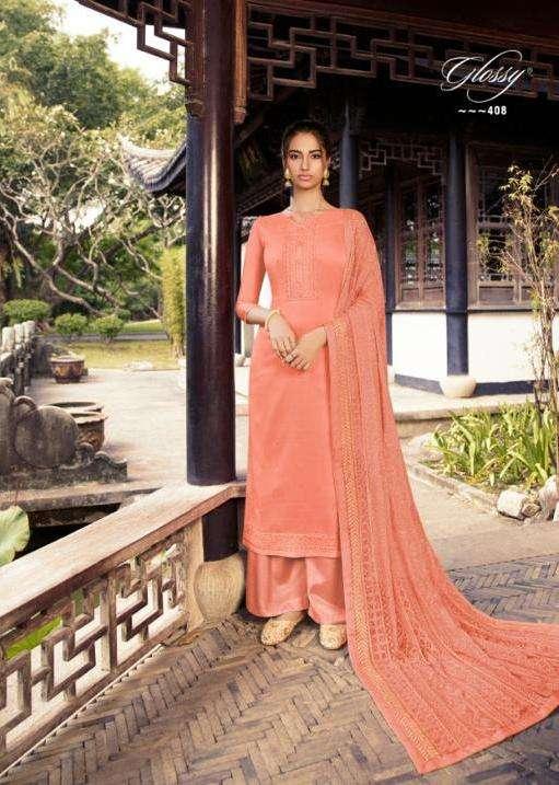 glossy rooh cotton silk work fancy suit wholesaler