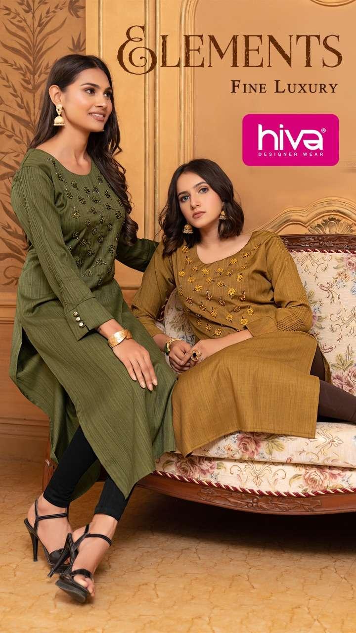 Hiva elements fancy rayon kurti