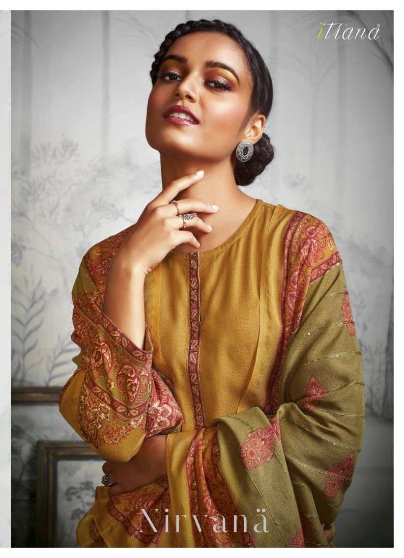 itrana nirvana staple twill exclusive winter dress materials