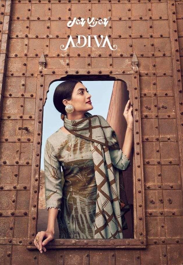 jay vijay launch adiva designer dress material
