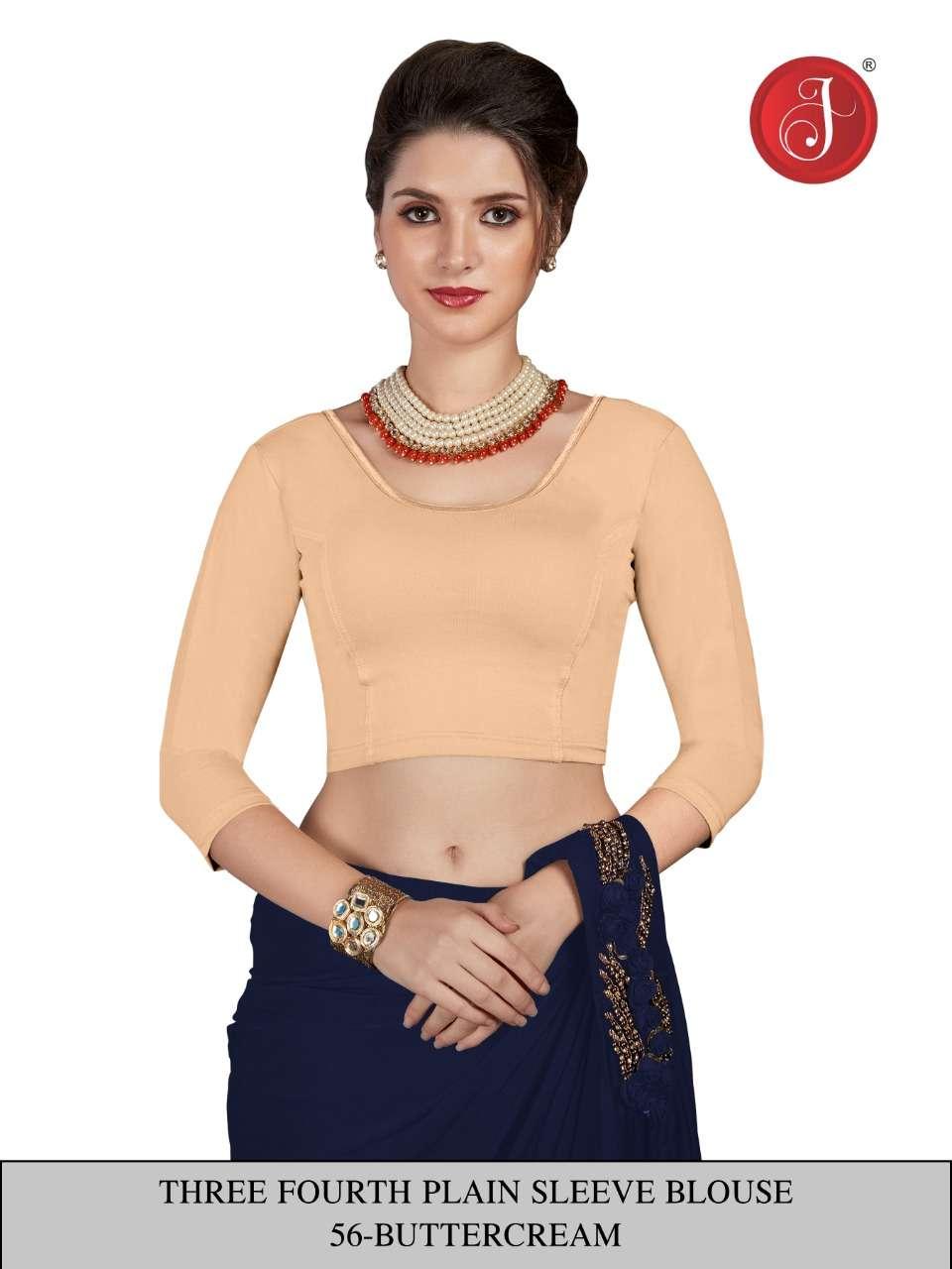 Jelite 3/4 Net sleeve Blouse Ladies Blouse Cheap Rate Seller Cotton Blouse Collection