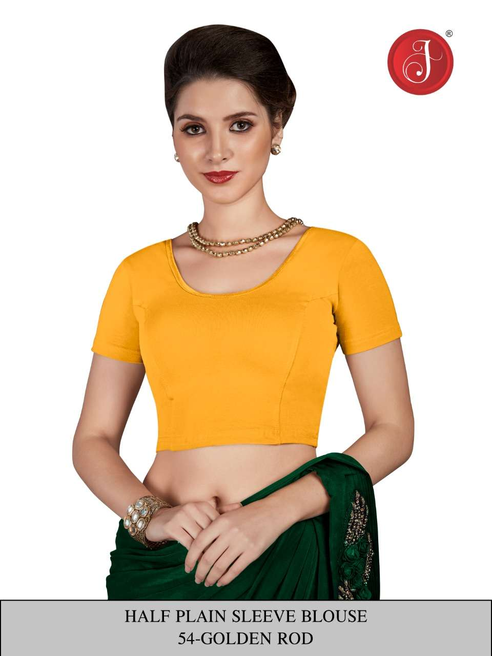 Jelite Plane half sleeve Cotton Ready To Wear Blouse Readymade Blouse Buy Online At Cheap Rate