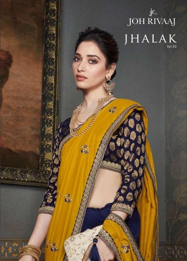 joh rivaaz jhalak 5301-5319 series party wear wedding saris wholesaler