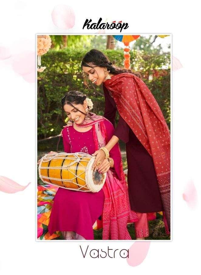 kalaroop vastra readymade dress top bottom with dupatta set
