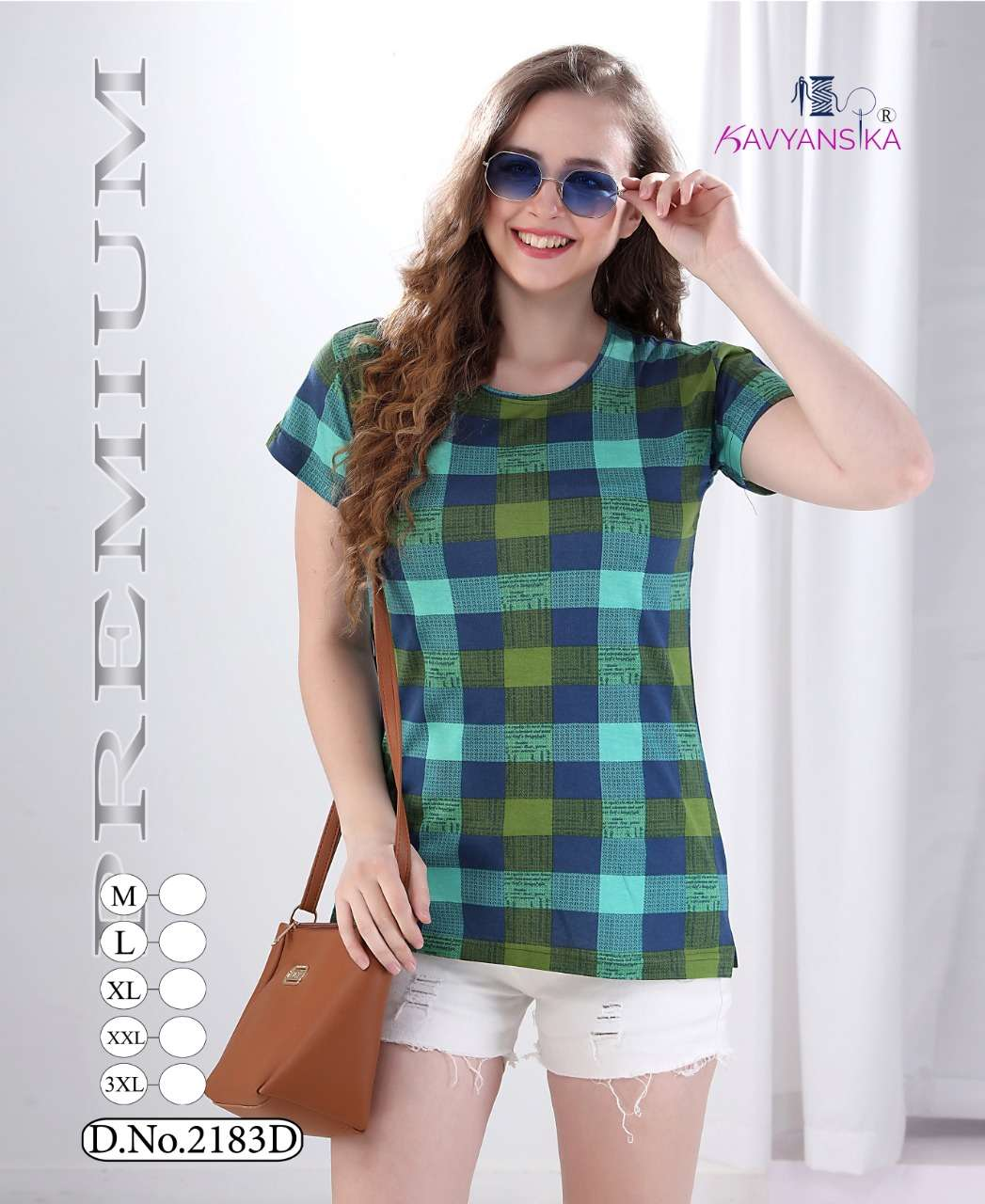 kavyansika vol 2183 printed ladies cotton side cut t shirt