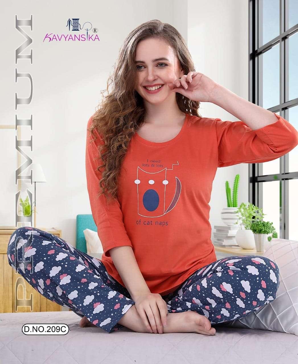 kavyansika winter vol 209 women full sleeve night suits
