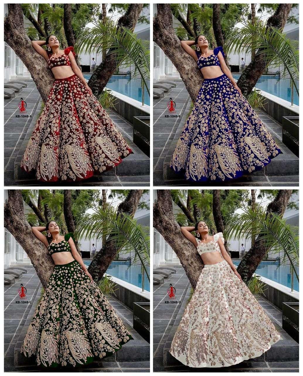 kb series design 1048 bridal lehenga boutique collection velvet