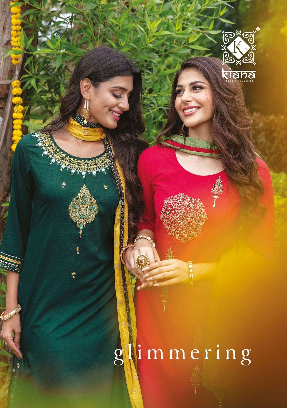 kiana launch glimmering maslin work fully stitch fancy readymade suits