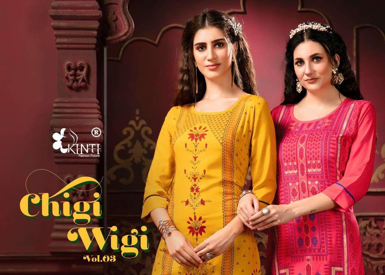kinti chigi wigi 3 casual wear kurti at lowest cost