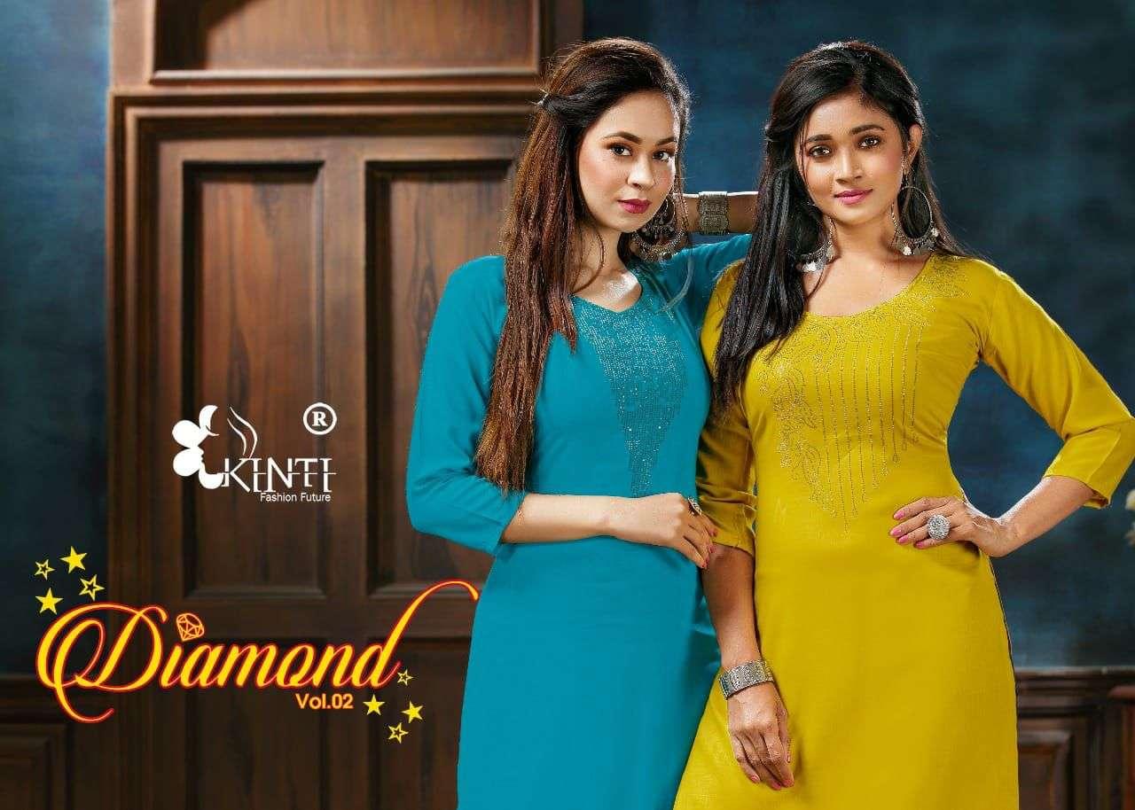 kinti diamond vol 2 simple readymade kurti low range