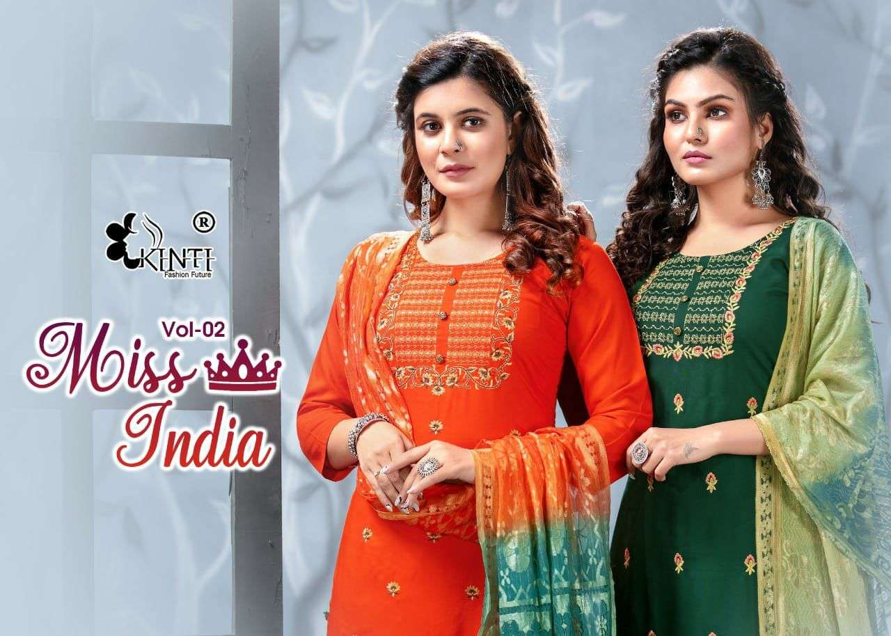 kinti miss india vol 2 top pent with dupatta set best price in india