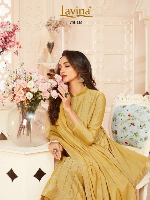 lavina vol 140 chinon embroidery party wear suits online supplier