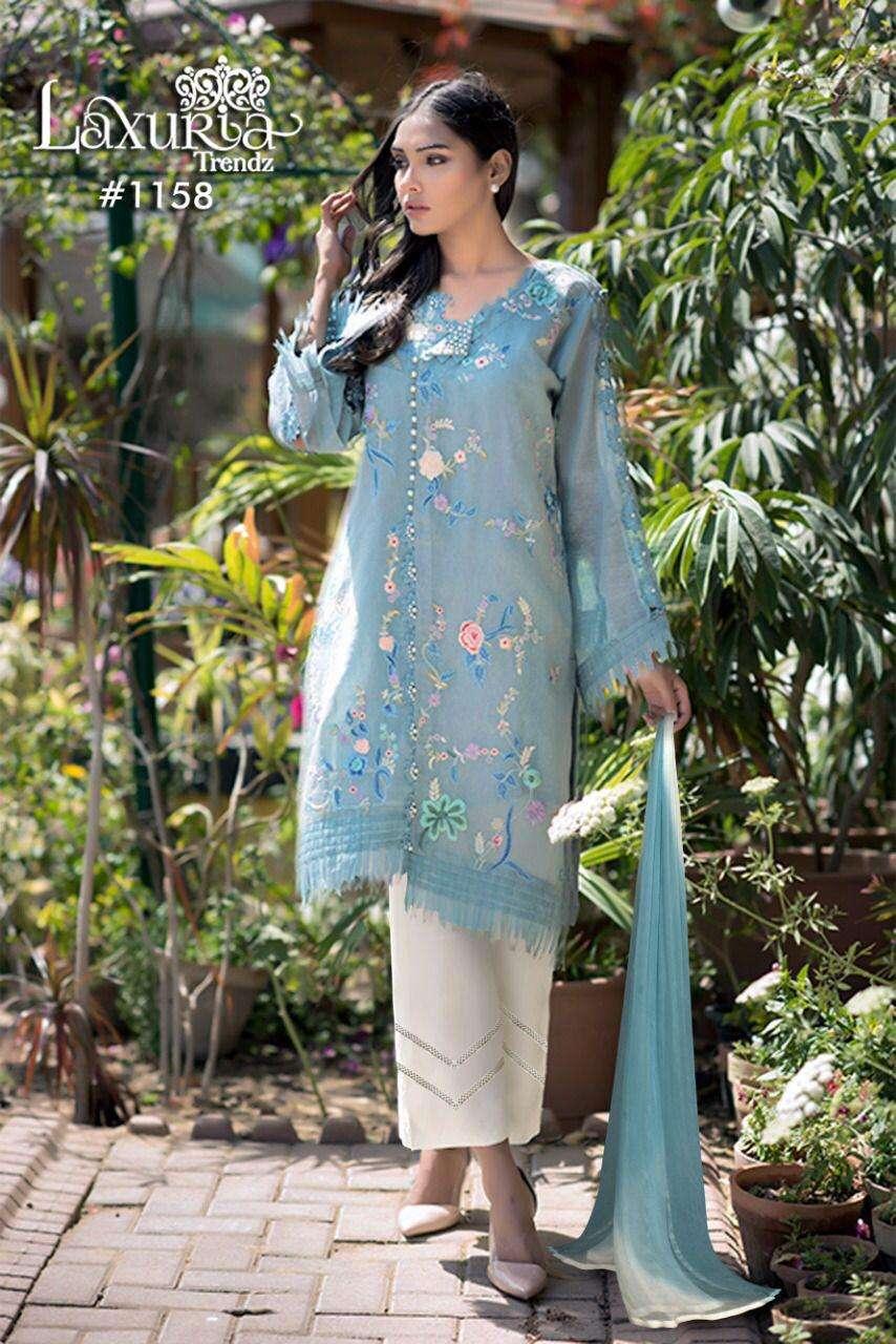 laxuria 1158 georgette pakistani readymade suits