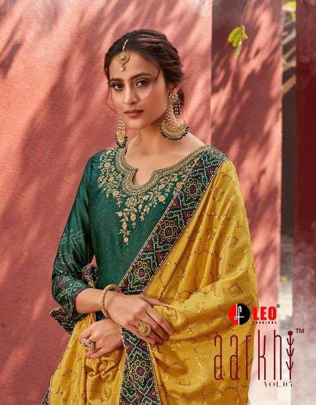 leo fashion aarkhi vol 5 1901-1906 series jam satin salwar suits