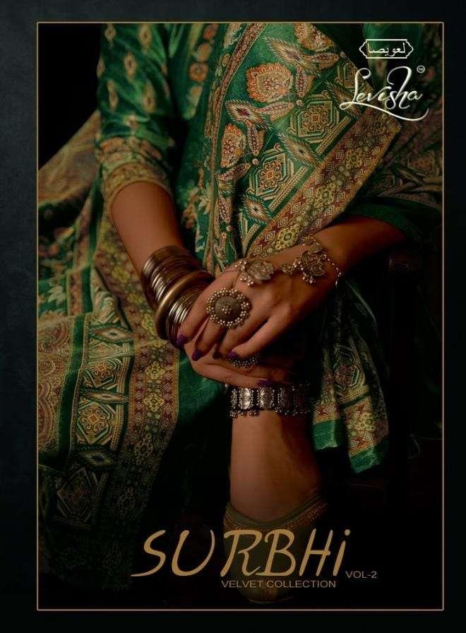 levisha surbhi vol 2 velvet digital printed pashmina salwar kameez