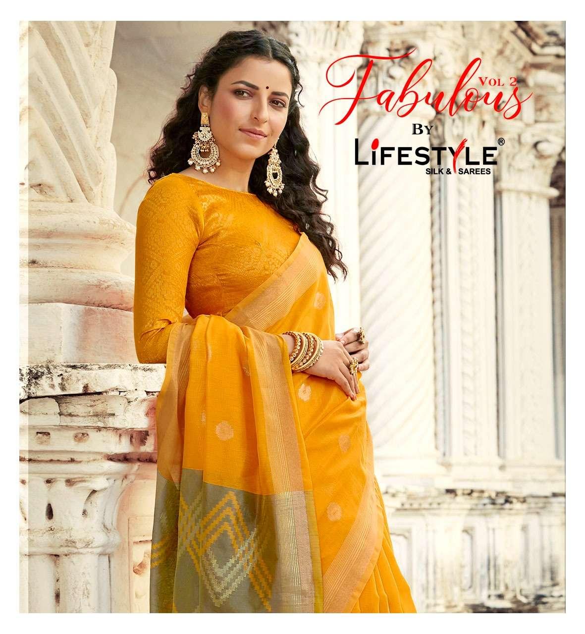 lifestyle fabulous vol 2 chanderi silk casual wear fancy sarees