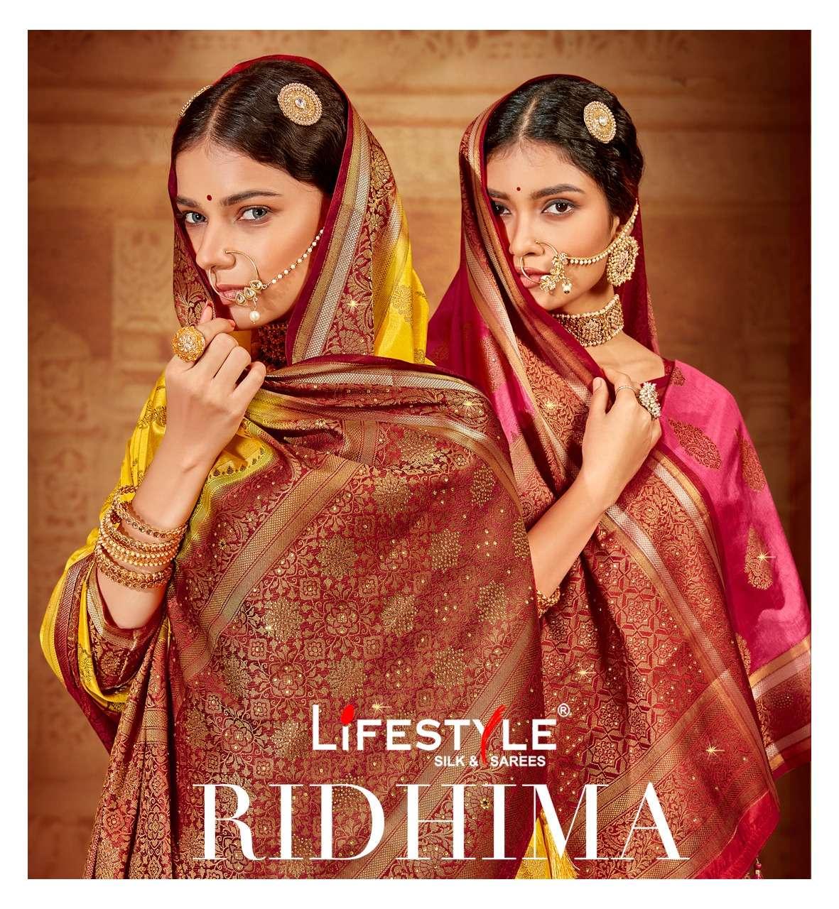 lifestyle ridhima vol 1 nylone silk fancy saree online supplier