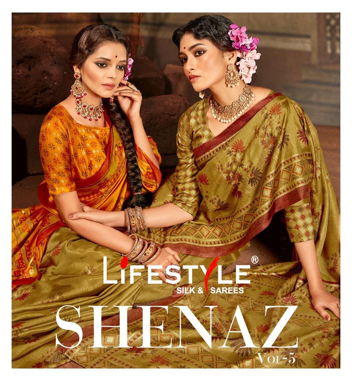 lifestyle shenaz vol 5 fancy sarees collection