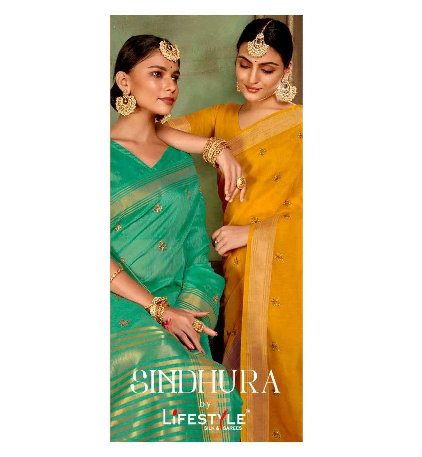 lifestyle sindhura vol 1 chanderi silk fancy sarees