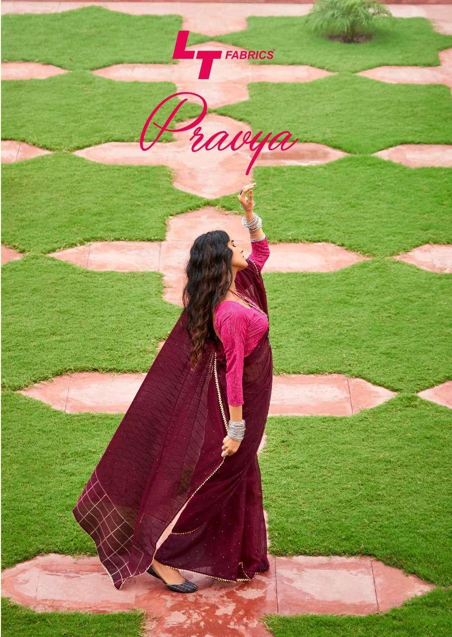 lt fashions pravya organza fancy saris wholesale rate