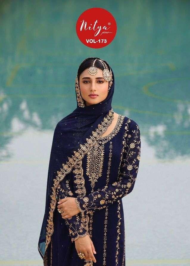 lt nitya 173 73001-73005 series georgette sharara style salwar suits catalog