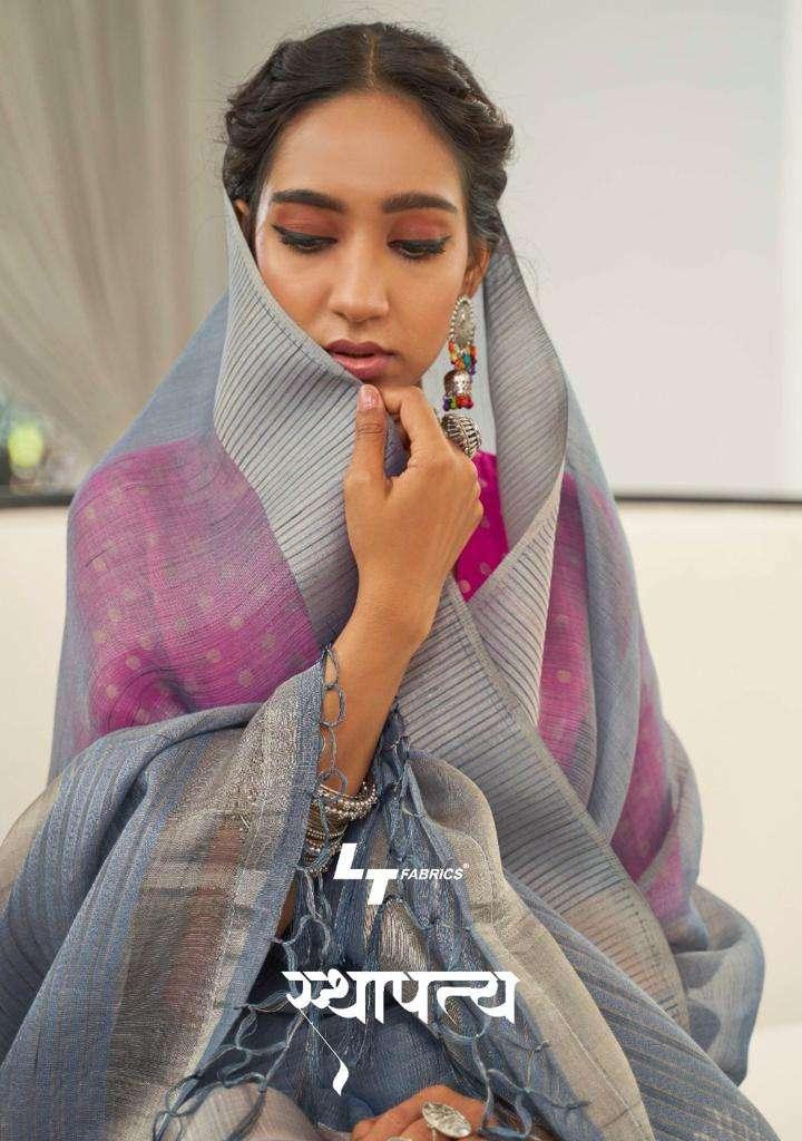 LTfashion sthapitya silk saree with fancy contrast jacquard blouse