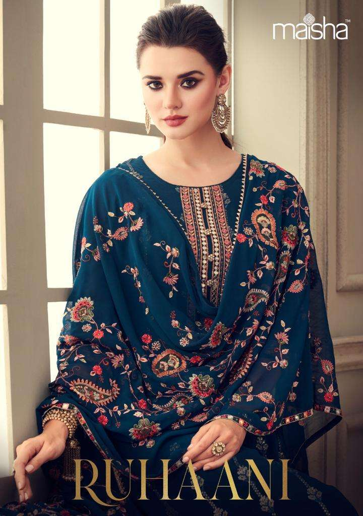 maisha ruhaani georgette party wear heavy salwar kameez