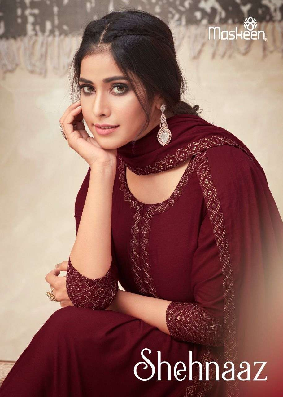 maskeen shehnaaz readymade designer salwar kameez collection