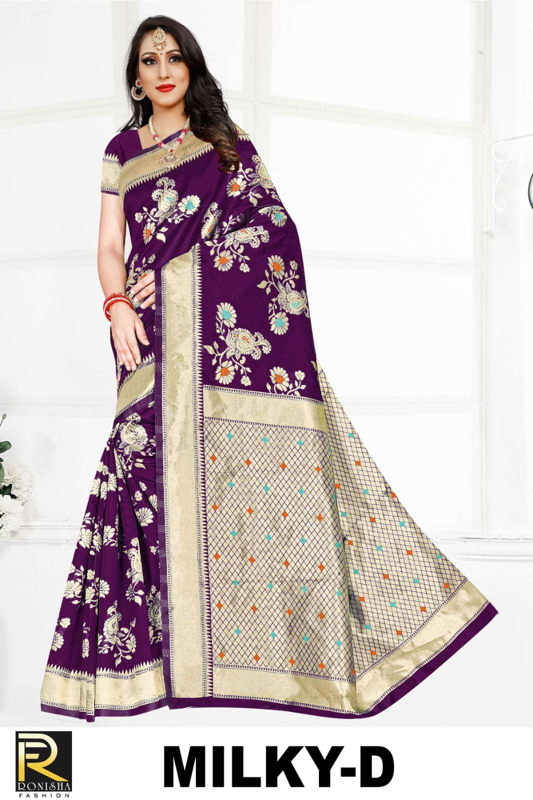 Milky by ranjna saree casual wear silk saree amazing Collection wholesale shop