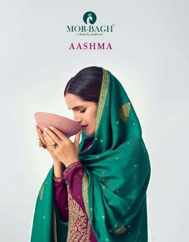 mor bagh aashma series 8490 to 8495 silk designer fancy salwar kameez