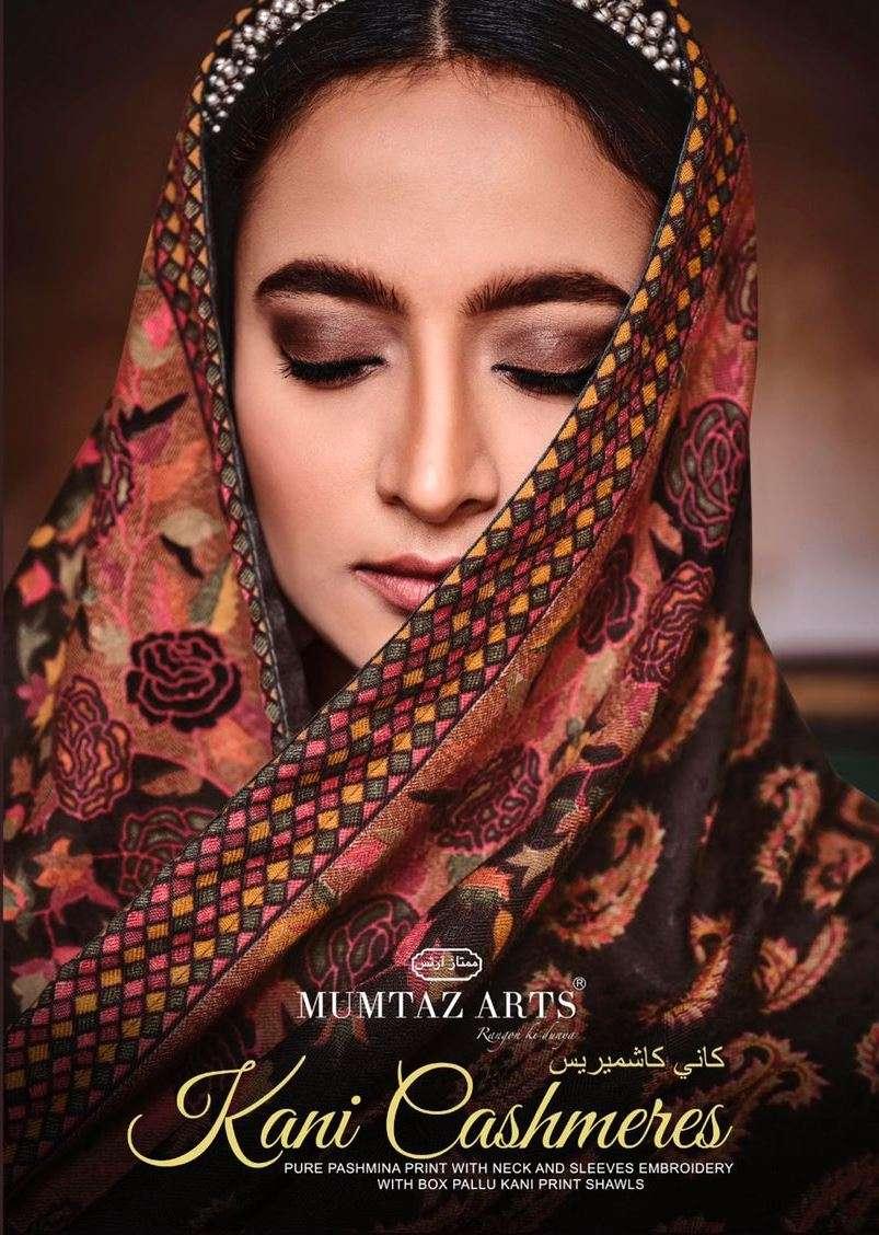 mumtaz arts kani cashmere pure pashmina printed salwar kameez