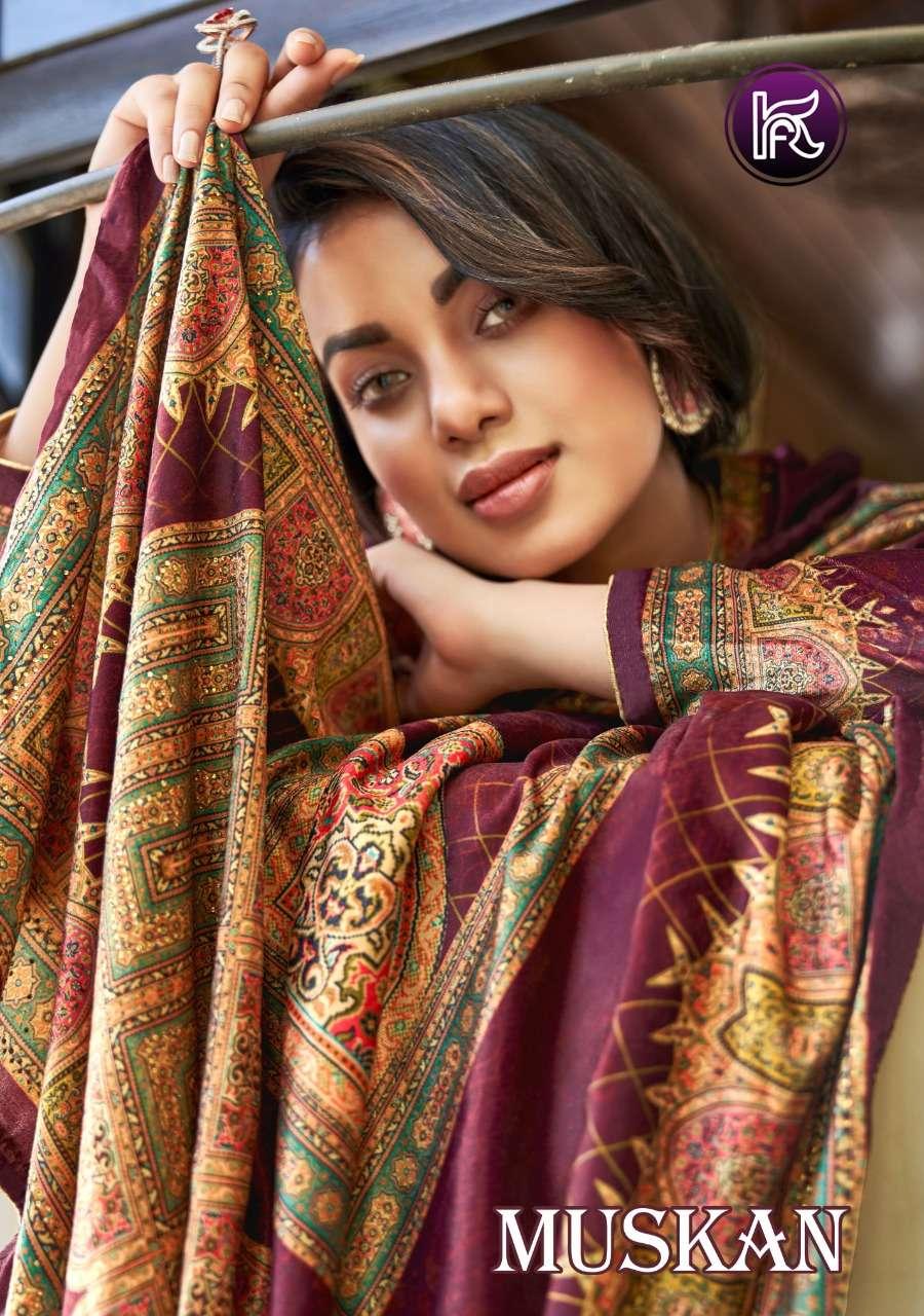 muskan by kala fashion velvet winter exclusive fancy dresses