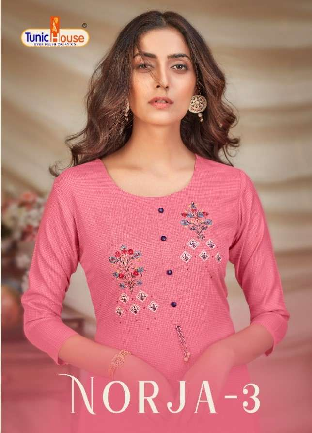 NORJA-3 BY TUNIC HOUSE EXCLUSIVE FANCY KURTI WHOLESALER