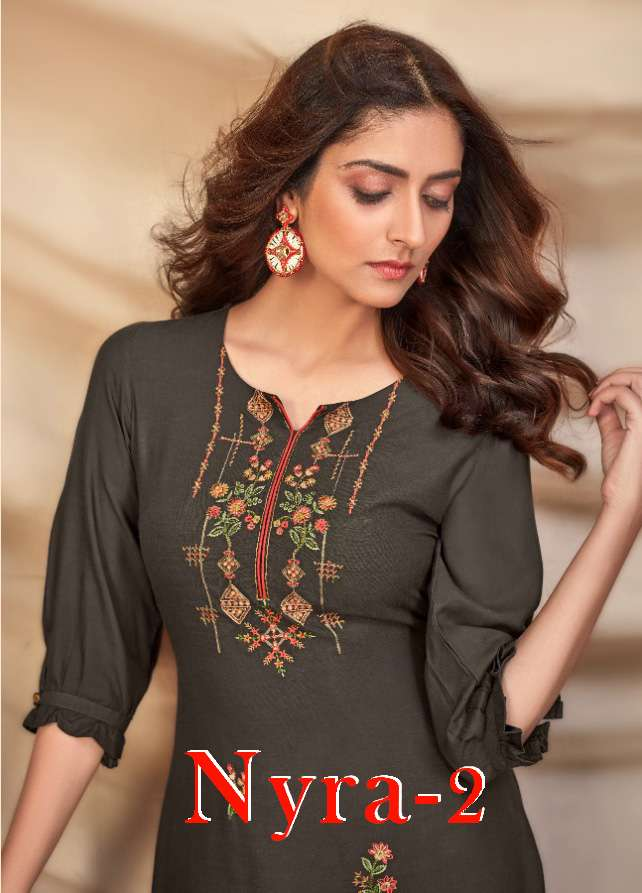 Nyra-2 By Tunic House Designer Kurti With Palazzo Cataloge In Wholesaler