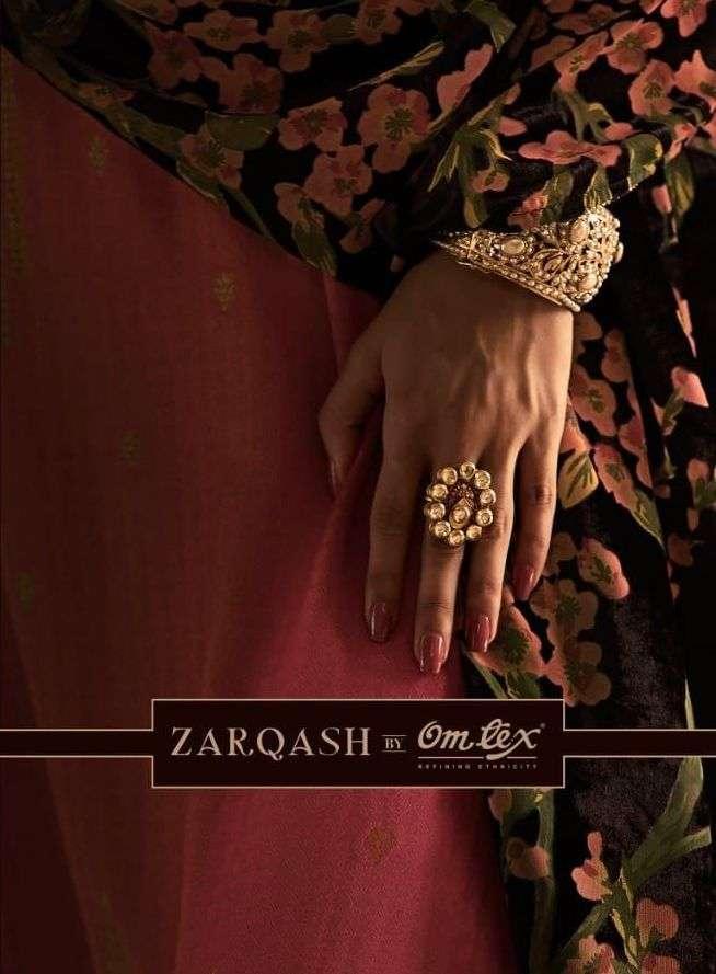 omtex zarqash woven pashmina silk salwar kameez catalog