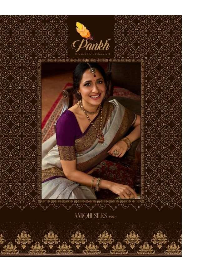 pankh aarohi vol 1 silk elegant fancy latest sarees supplier