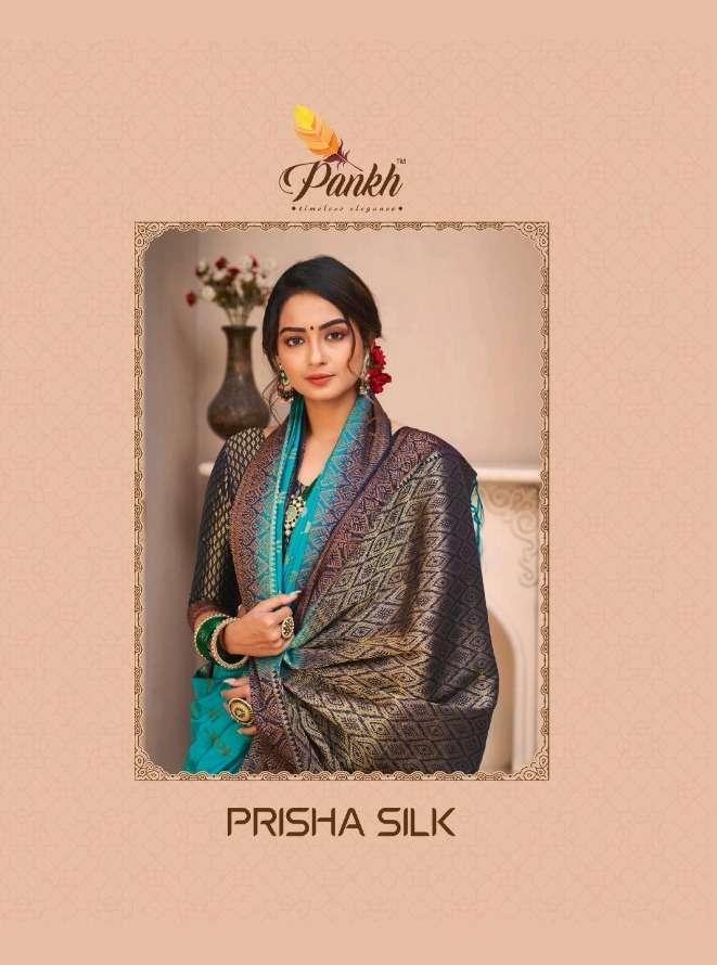 pankh prisha silk 1701-1713 series rich look silk saris for festival