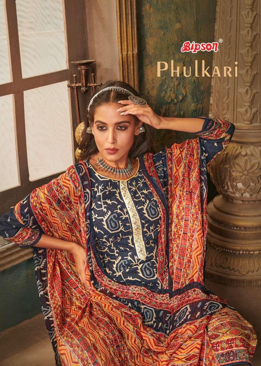 phulkari by bipson pashmina winter salwar kameez