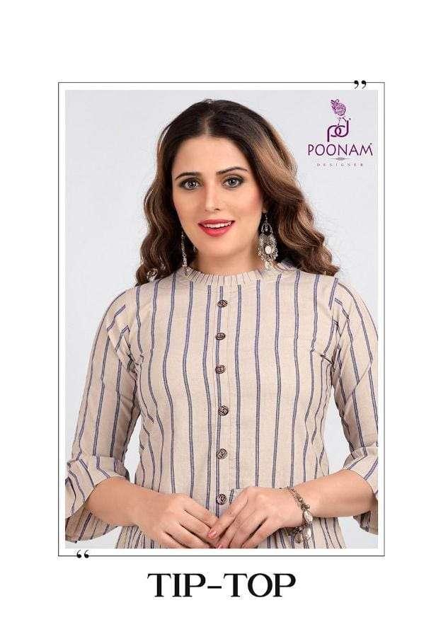 poonam tip top cotton jacquard designer short tops
