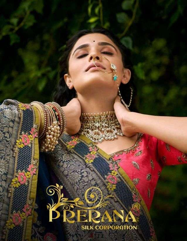 prerana silk 1001-1009 series heavy wedding designer branded sarees collection