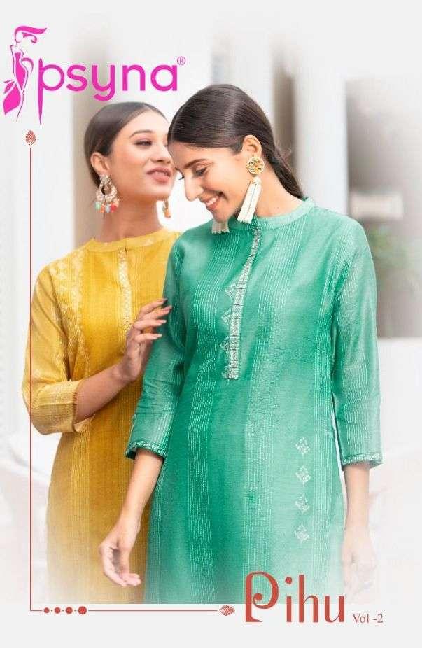 psyna pihu vol 2 stylish latest kurti with pant collection