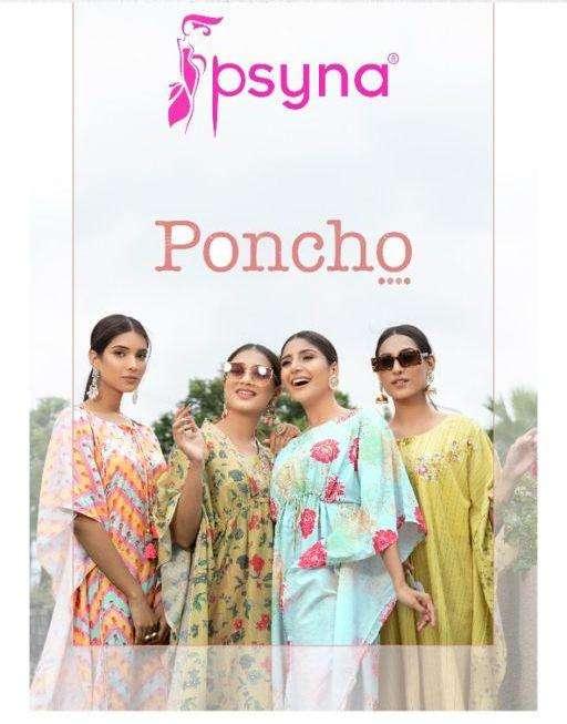 psyna poncho kaftans pants set trendy collection