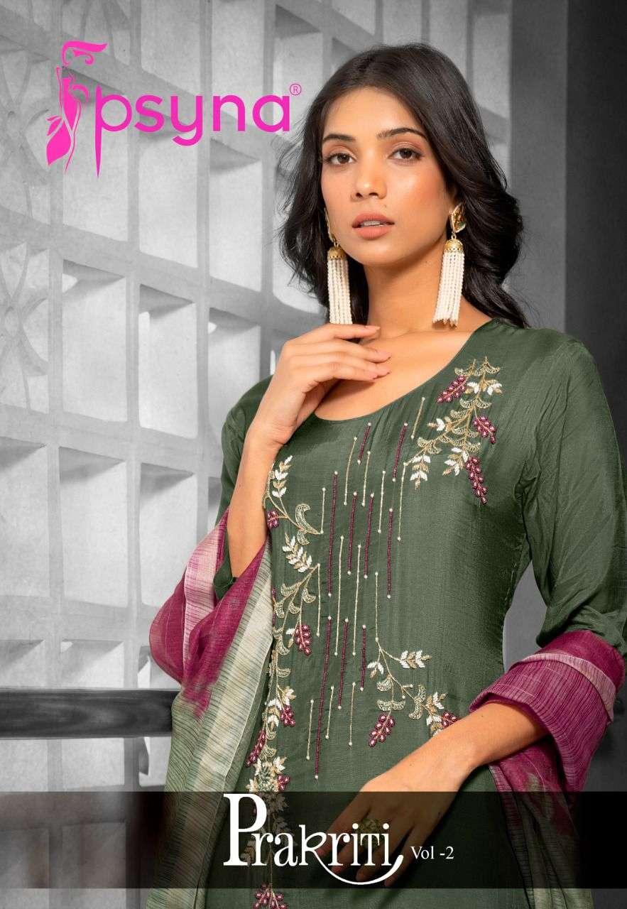 psyna prakriti vol 2 pure muslin handwork designer readymade salwar kameez