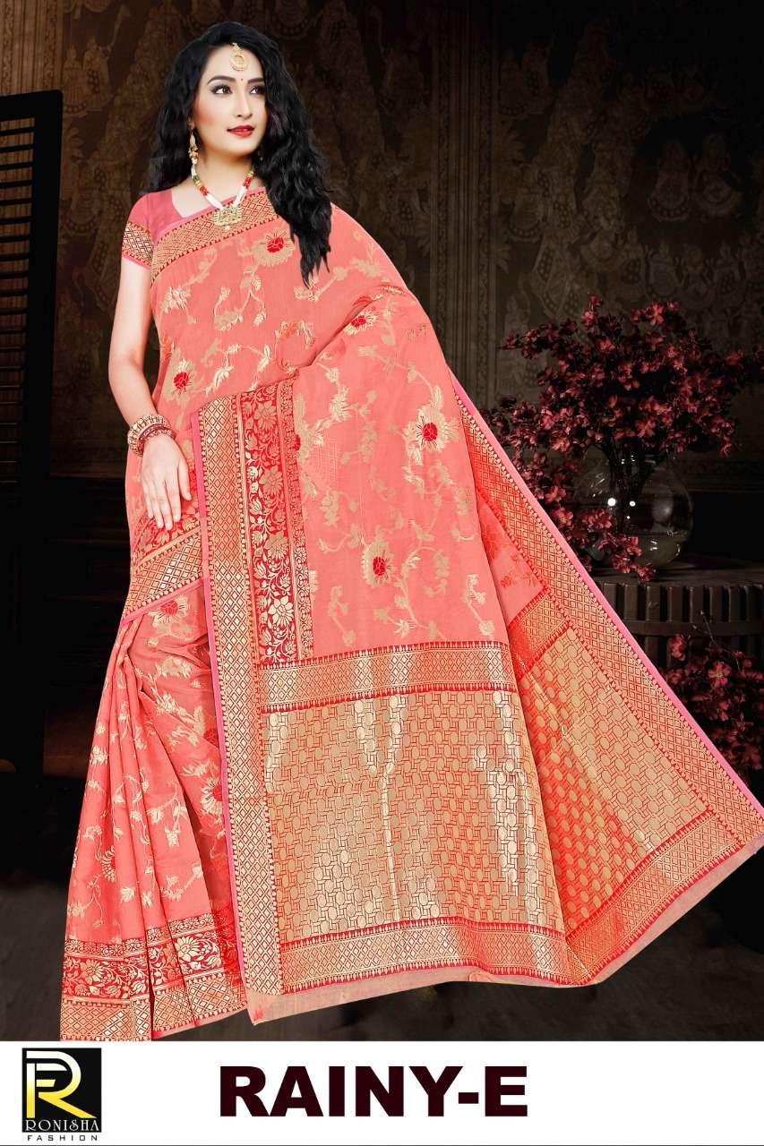 Rainy by ranjna saree soft cotton silk casual wear saree collction online shop