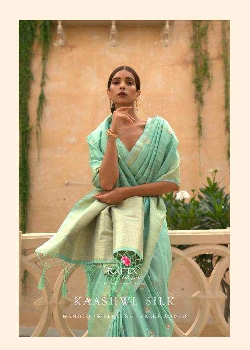 rajtex kaashwi silk series 212001-212006 fancy sarees collection