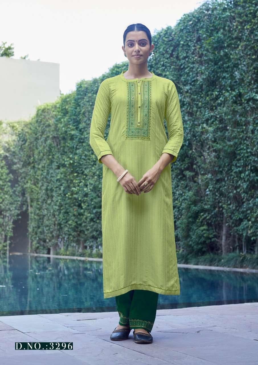 rangoon light line vol 9 silk work daily wear fancy kurti