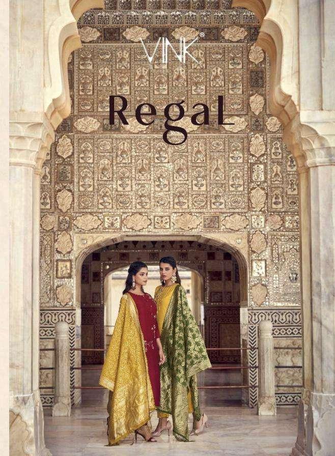 regal by vink fancy party wear silk kurti with dupatta & pants wholesaler
