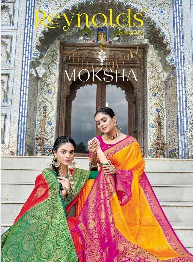 reynolds sarees moksha authorized silk sari wholesaler in surat