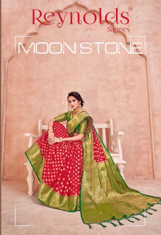 reynolds sarees present moon stone fancy silk sarees